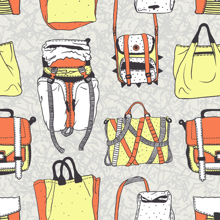 mainstream: Seamless vector pattern with original bags