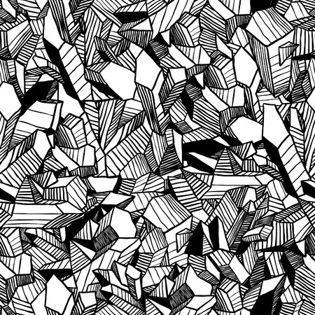 Seamless vector pattern with crystals Stock Illustratie
