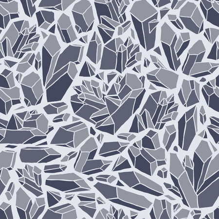 Seamless vector pattern with crystals Vettoriali