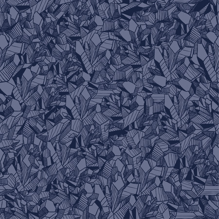 Seamless vector pattern with crystals Vector