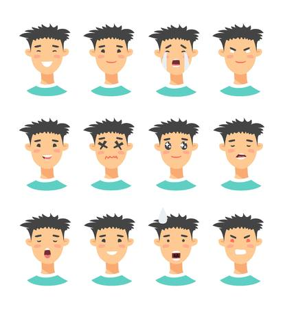 disappear: Set of male emoji characters.