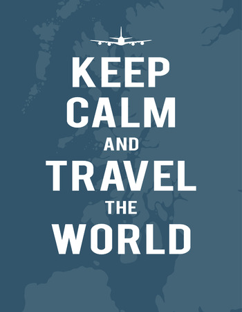 Keep calm and travel the world, map of United Kingdom, plane Stock fotó - 76390126