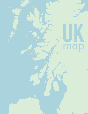 britannia: Vector Map of United Kingdom. Great Britain print
