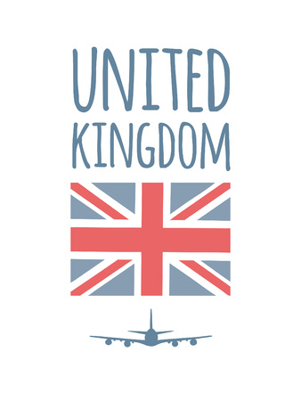 A Vector United Kingdom flag. Great Britain print