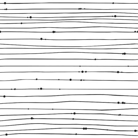 Hand drawn Bead Illustration. Black Contour Creative ink art-work. Boho chic background. Vector seamless pattern Stock fotó - 76329802