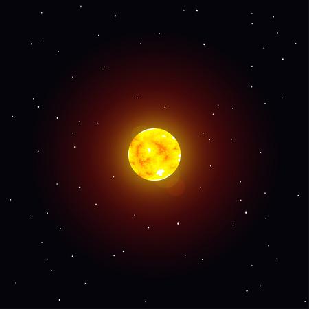 Vector illustratie Zonne-systeem object, zon