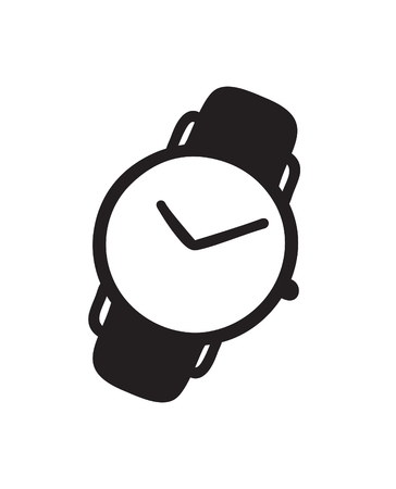 Hand drawn watch. Doodle vector clocks. Artistic drawing object. Creative ink art work 向量圖像