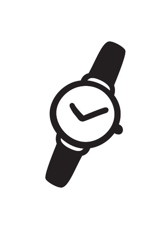 Hand drawn watch. Doodle vector clocks. Artistic drawing object. Creative ink art work Banque d'images - 128486815