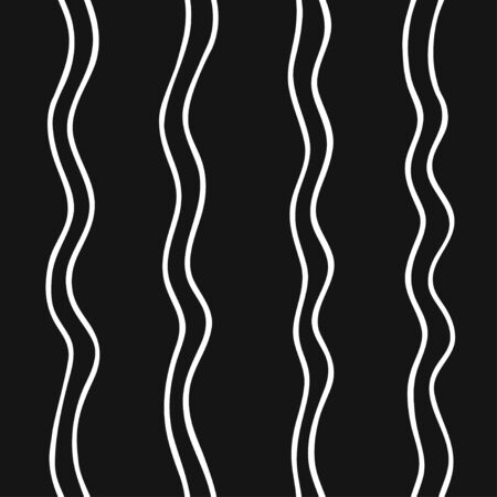 Hand drawn seamless pattern with Black and white Vector doodle lines.  Abstract pencil drawing stripes background. Artistic illustration grunge elements strokes
