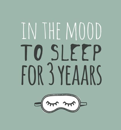 Hand drawn objects about Sleep Routines and text.Vector Cozy Illustration. Creative artwork. Set of doodle and quote Stock Illustratie