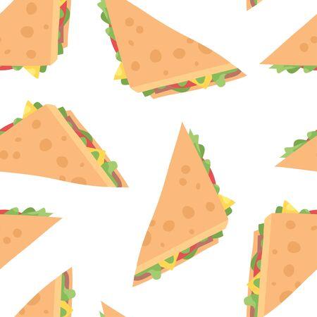 Cartoon drawing set of fast food. Hand drawn meal. Ilustracja