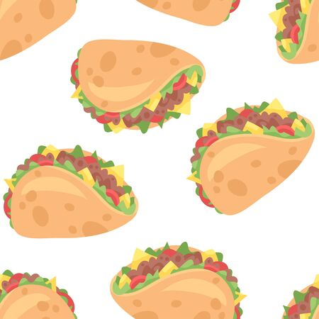 Cartoon drawing set of fast food. Hand drawn meal. Illustration