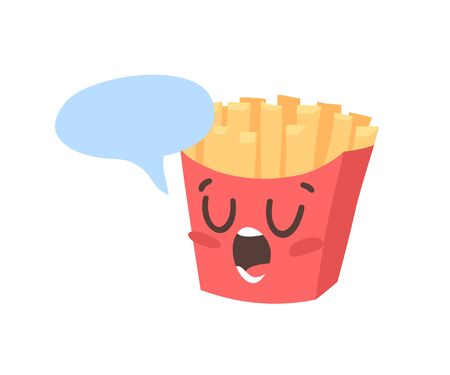 Cartoon drawing set of fast food emoji. Hand drawn emotional meal.Actual Vector illustration american cuisine. Creative ink art work french fries  イラスト・ベクター素材
