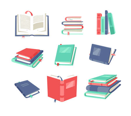 Cartoon drawing book for Student. Hand drawn school object. Actual Vector illustration about Reading. Creative art work