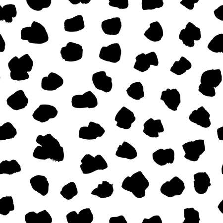Seamless pattern with hand drawn black and white Drops. Paint objects background for your design. Vector art drawing. Brush grunge illustration 일러스트