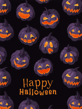 Cartoon Character Jack-o-lantern. Hand drawn stylish Halloween vegetable. Autumn Vector drawing fresh food. Vegan Illustration Pumpkin Spice Season Vektoros illusztráció