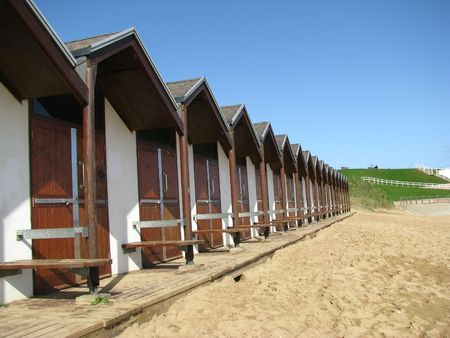 Beach huts at Bridlington