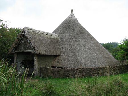 hut: Iron Age roundhouse