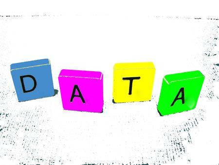 Data block wording multicoloured