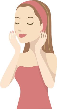 hairband: A woman with hairband
