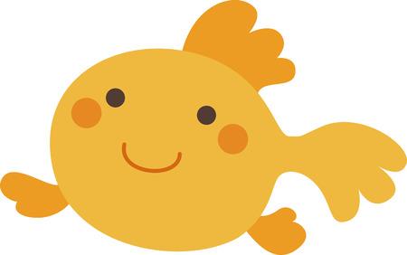 A orange gold fish Stock Vector - 25526718