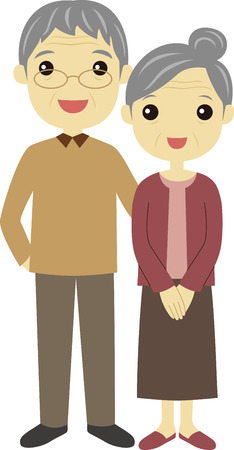 Senior couple Vector