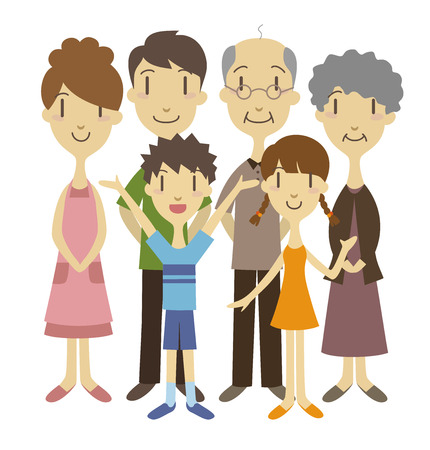 Three generation family  vector illustration Vector
