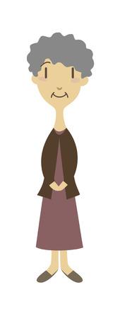 alte frau: Eine alte Frau, Vektor-Illustration Illustration