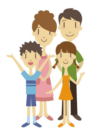 Two generation family  vector illustration Vector