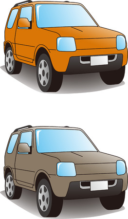 four wheel drive: Sports Utility Vehicles   Vector illustration