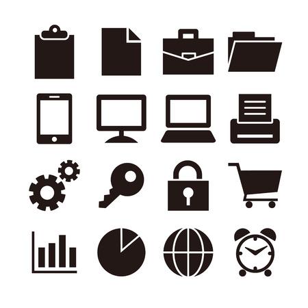 Business icon set   イラスト・ベクター素材