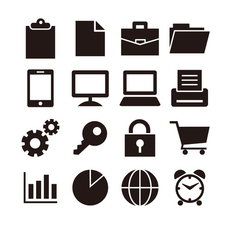 Business pictogram set