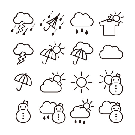 Weather icons 일러스트