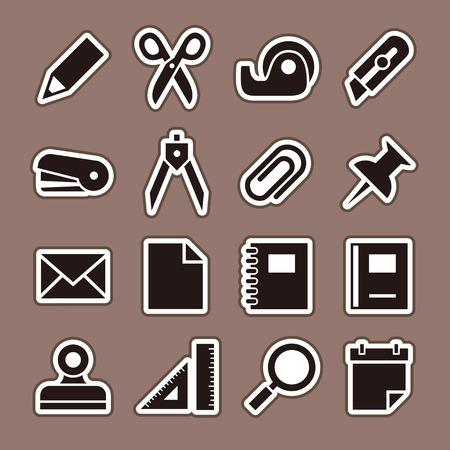 Stationery icon set