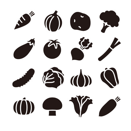 Vegetable icons Vectores
