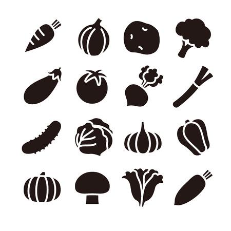 Vegetable icons Vetores