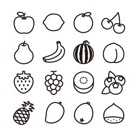 フルーツのアイコン 写真素材 - 36674713