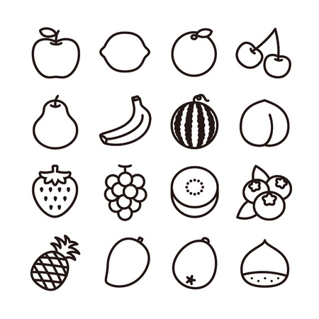 Fruit icons 일러스트
