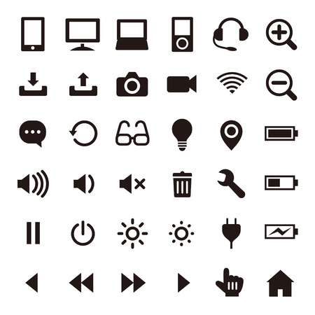 Business & computer icons Stock Vector - 36763951