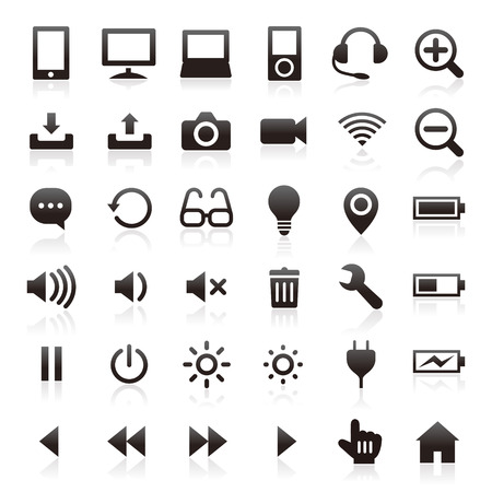 Business & computer icons 免版税图像 - 36763952