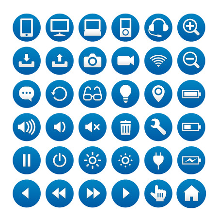 Business & computer icons 免版税图像 - 36763967
