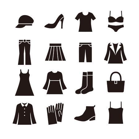 Icône de la mode pour dames Banque d'images - 37378152