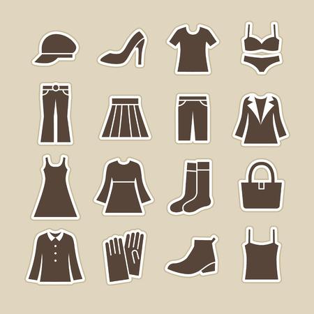 女性ファッション ・ アイコン  イラスト・ベクター素材