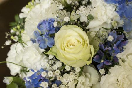 bluebell: Roses carnation Texas bluebell  delphinium flower bouquet