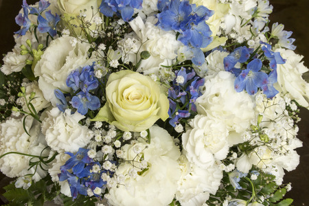 rose bouquet: Roses carnation Texas bluebell  delphinium flower bouquet