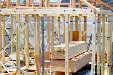 woningbouw werkt in een woonwijk in Tokio