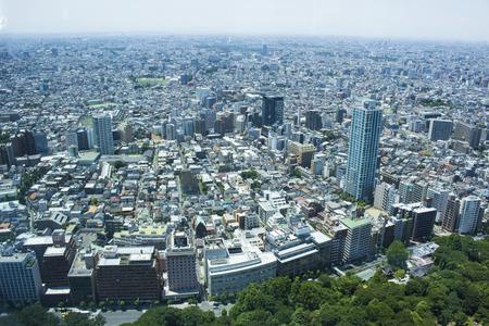 東京都庁ビルの展望デッキからのシティー ビュー