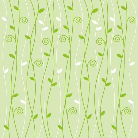 light green background: Green vine creeper pattern on light green background