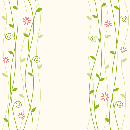 flowerly curly vine background with text space
