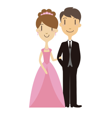 pink dress: bride and groom at the wedding ceremony